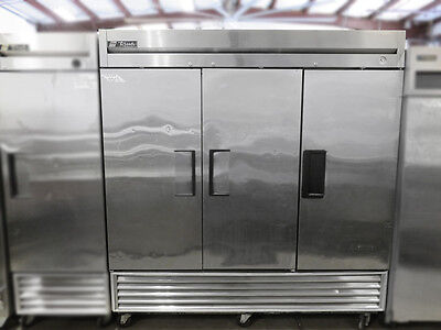 True T-72F - Reach-In Vertical Freezer Stainless Steel 3 Solid Doors - 110V