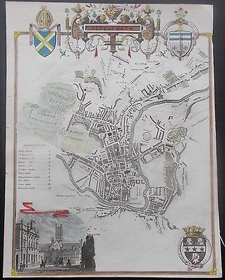 City Of Bath Plan Thomas Moule Ca1848 From The James Barclay Dictionary