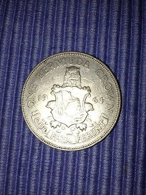 One Bermuda Crown 1964 Silver Coin