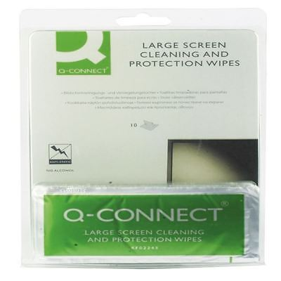 Q-Connect Large Screen/Protection Wipes (Pack of 10) KF02245A [KF02245]