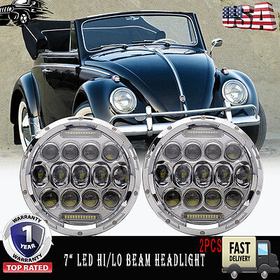 FITS VOLKSWAGEN BEETLE 7 Inch Clear Round LED Projector