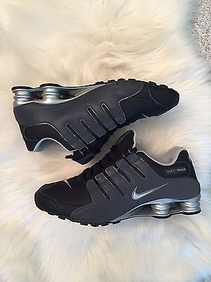 Nike Shox Men's Size 13 Black Grey Gray Silver Running Sneakers