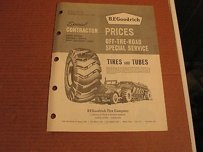 1960's B.F. Goodrich Off The Road Service Tires Dealer Guide