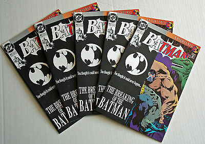 Lot of (5) Batman #497~DC Comics ~Issues in NM condition Bane Breaks Back