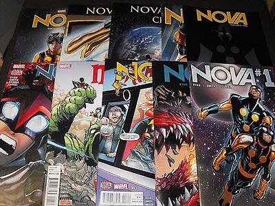 Nova  1-10 2016 Marvel Comic Run Set 1 2 3 4 5 6 7 8 9 10 Total Comics