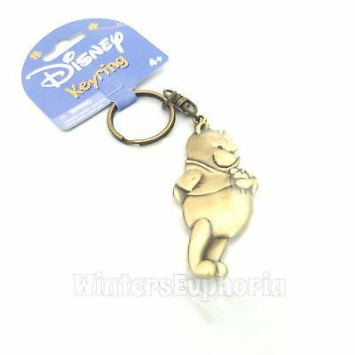 Disney Winnie the Pooh Metal Key Ring Chain Brass New with Tag
