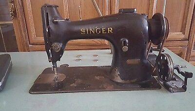 Singer leather sewing machine & table  works 100% perfectly fantastic shape