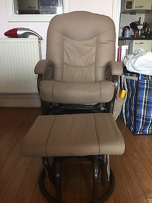Maternity Rocking Chair - Metal, Leather Like