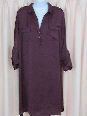 Jessica Simpson Maternity Womens Size LARGE Tab Sleeve Career Casual Dress