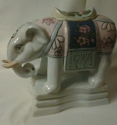 Vintage Andrea by Sadek Ceramic  Porcelain Handpainted Elephant decorative piece