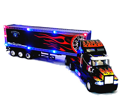 Remote Control Large Tractor Trailer Truck Lorry 65cmL Radio Light & Music Car