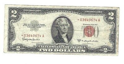 """$2 1953C """"STAR"""" RED SEAL United States Note Replacement Bill Circulated"""