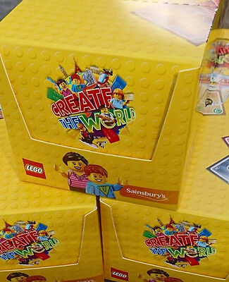 Box 300 Packs Sainsburys CREATE THE WORLD Lego 1200 Cards, NEW Collectables