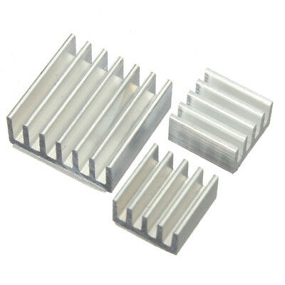 3Pcs Adhesive Aluminum Heat Sink Cooler Kit For Cooling Raspberry