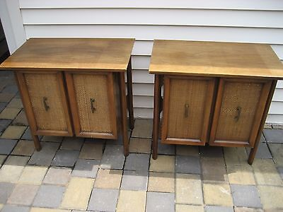 PAIR Mid Century Danish Modern Nightstands End Tables Jorgen Clausen