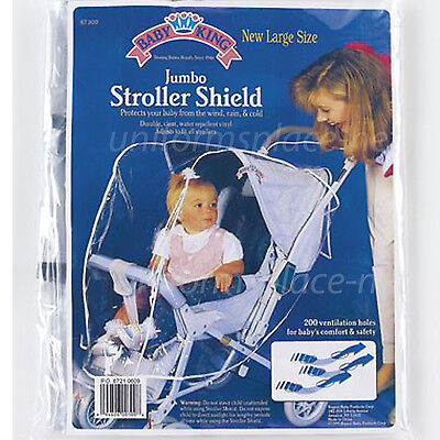 Baby Stroller Rain Cover Wind Protect Outdoors Baby Jumbo Stroller Shield Clear