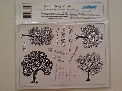Creative Expression A5 Grey Stamp Sheet,Trees of Imagination New.
