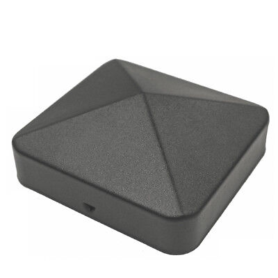 "Nuvo Iron 3.5"" x 3.5"" Eazy Cap (for Posts with Rounded Corners) - Black PCP11BLK"