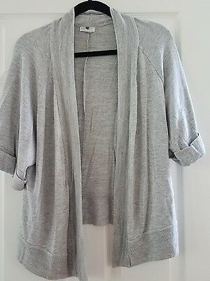 A Pea In The Pod Short Sleeve Open Front Cardigan Sweater Size Large