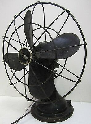 Antique Westinghouse Oscillating 4 Blade Table Fan 12-F-3 For Parts or Repair