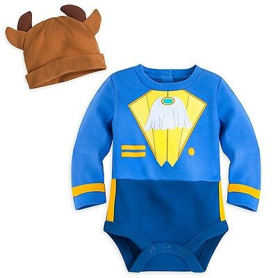 Disney Store Beast Baby Costume Bodysuit & Hat 0-3 Months BNWT Beauty And The