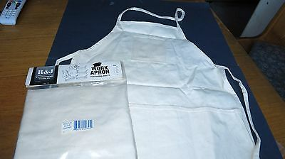 2 Work Aprons Canvas 4 Pocket Short Style Shop Housecleaning Nails Parts Tools