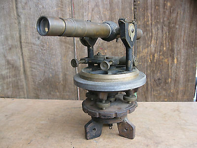 Antique Brass Surveyor's/Builders Transit Level Bostrom-Brady Mfg Co