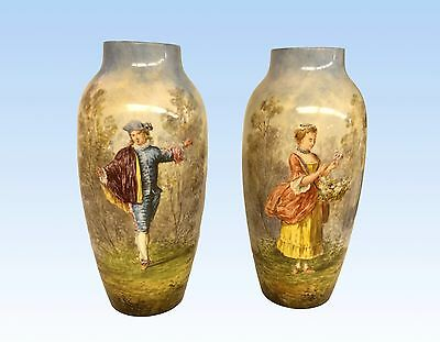 A Pair Of Paul Miletus Mp Sévres Vases, Hand Decorated, Sévres France, 1911
