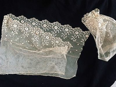 Victorian Vintage Lace Antique Costume Sewing Accessory,THINK HAND WORKED LACE ?