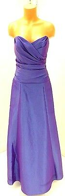2 Be Social Blue Sweetheart Neck Gown with Wrap Size 14 NWD Retail $245