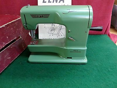HAND CRANK TOY SEWING MACHINE ELNA JUNIOR 40's Switzerland Mesmerizing Elna Junior Sewing Machine