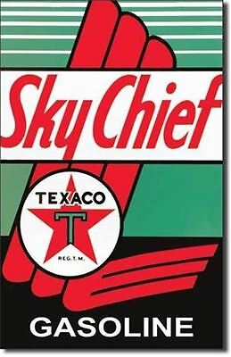 Texaco Sky Chief Gas   Metal Tin Sign