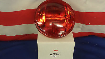 New 4412R Par46 Sealed Beam Bulbs 12 Volt 35 Watt RED American LaFrance ALF