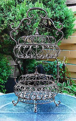 Antique 1800's Hand Crafted Very Charming Two Tier Organizer/Storage Stand, Rare