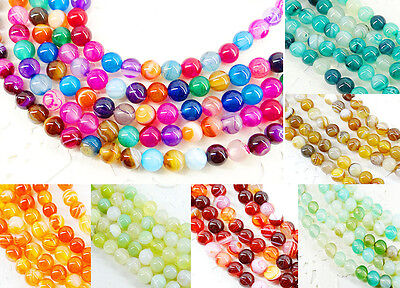 60pcs rainbow color Semi-precious agate spacer loose beads jewellery making 6mm
