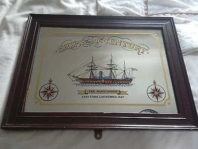 Vintage Nautical Maritime Mirror Of A Ship