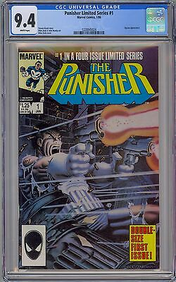 PUNISHER #1 - CGC 9.4 - WP NM 1st SOLO LIMITED SERIES 1986