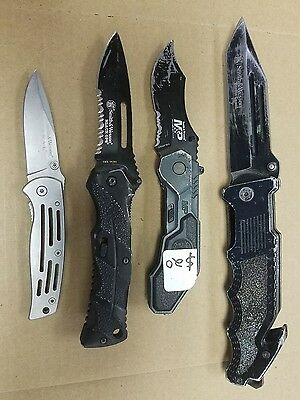 Lot of 4 used Smith and Wesson pocket knives-Free Shipping