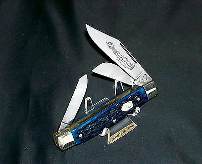 """Buck Creek Rattler Knife Bone Stag Hand Made Germany 1970's Rare 4-1/4"""" Closed"""