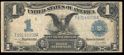 1899 Series $1 Large Size Black Eagle Silver Certificate Fr. 236 VF- T49144908A