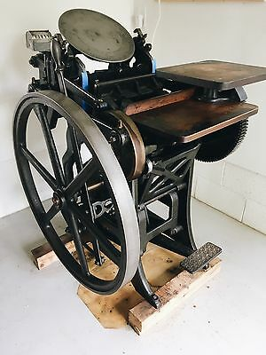 Chandler & Price C&P 8x12 Letterpress New Style with Treadle Furniture Chases