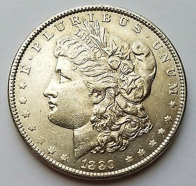 1889-P Morgan Silver Dollar 17MD113
