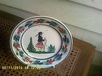 Quimper France Signed 7 Inch Plate In Excellent Condition