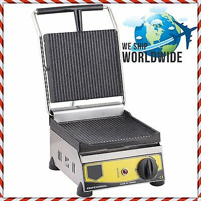 Electric Commercial Sandwich Panini Toaster Pannini Grill Press Machine Maker