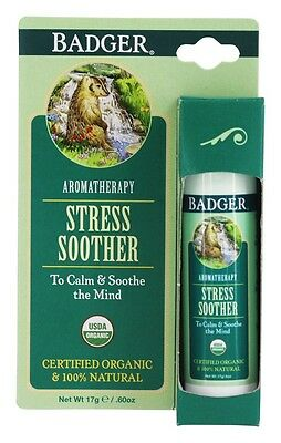 Badger Stress Soother Balm Stick 0.6 oz To Calm & Soothe the Mind