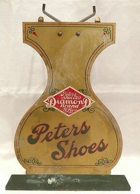 Vintage Peters Shoes Sign, Diamond Brand