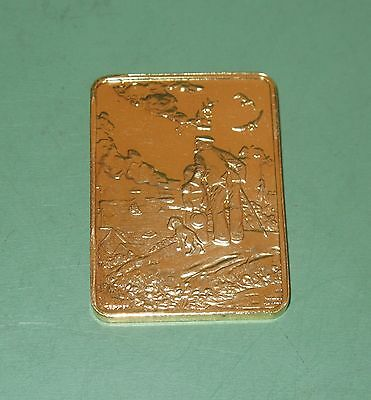Normal Rockwell Looking Out To Sea 24k Gold Finish Tribute Ingot Bar #5