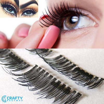 Soft and Natural Mink Look Magnetic Eyelashes in 11 Different Styles / 4 Pcs Set