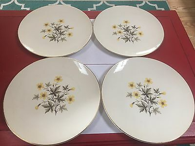 "Lot of 4 Knowles Sun Light X-5051 10"" Dinner Plates"