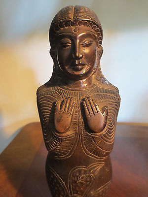 Scarce Unusual Rare Antique Bronze Sarcophagus Statue from Sri Lanka Ceylon